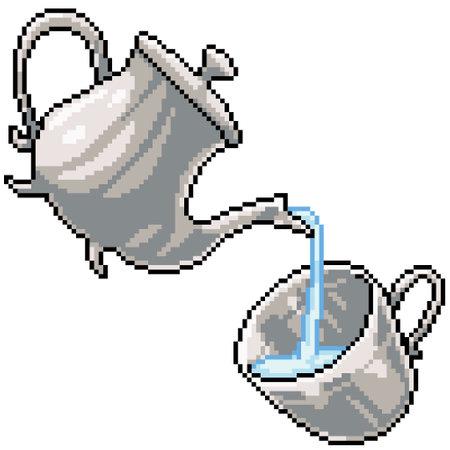 pixel art of jar cup drink