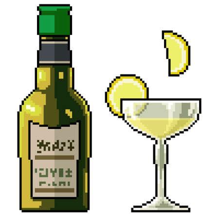 pixel art of lemonade cold drink 矢量图像