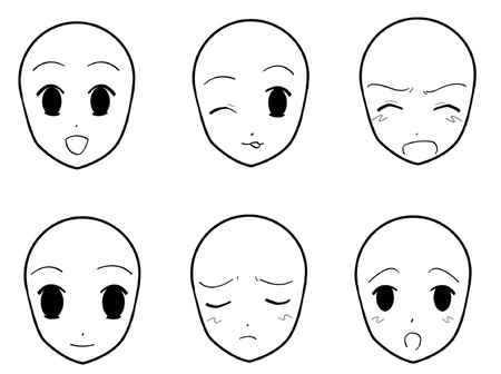 Anime Facial Expressions 02 Illustration