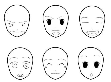 Anime Gezichtsuitdrukkingen 03 Stockfoto - 15008259