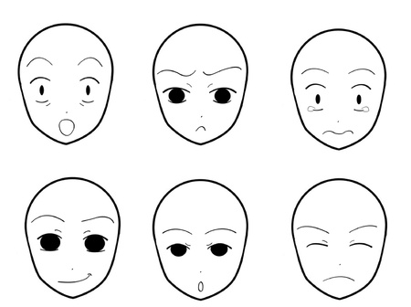 facial expression: Anime Facial Expressions 04