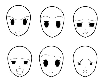 Anime Facial Expressions 05