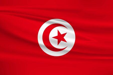 Flag of Tunisia Stock Illustratie