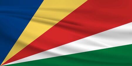 Flag Of Seychelles Stock Illustratie
