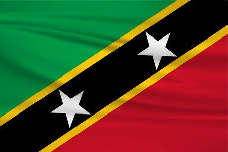 Flag Of Saint Kitts and Nevis Stock Illustratie