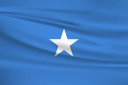 Flag Of Somalia Stock Illustratie