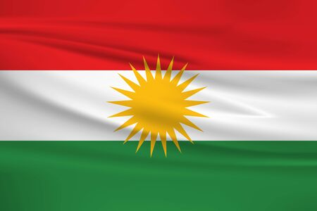 Flag Of Kurdistan Stock Illustratie