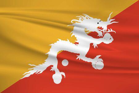 Flag of Bhutan Stock Illustratie