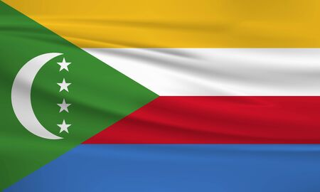 Flag Of Comoros Иллюстрация