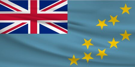 Flag Of Tuvalu Stock Illustratie
