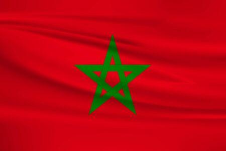 Flag of Morocco Stock Illustratie