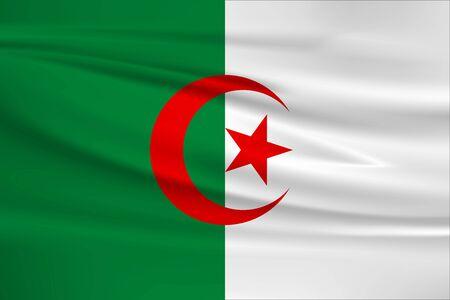 Flag of Algeria Stock Illustratie