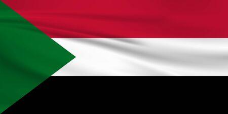 Flag Of Sudan Stock Illustratie