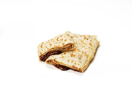 Private Traditional Turkish Gozleme chocolate and cheese 스톡 콘텐츠 - 139727735