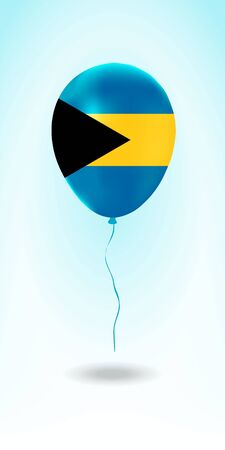 Bahamas balloon with flag. Ballon in the Country National Colors. Country Flag Rubber Balloon. Vector Illustration. Stok Fotoğraf - 139146443
