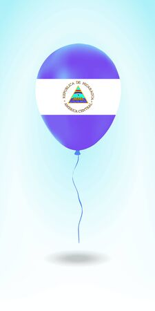 Nicaragua balloon with flag. Ballon in the Country National Colors. Country Flag Rubber Balloon. Vector Illustration. Stok Fotoğraf - 139146457
