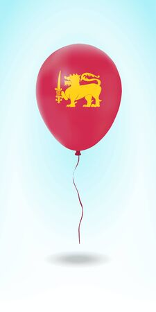 Sri Lanka balloon with flag. Ballon in the Country National Colors. Country Flag Rubber Balloon. Vector Illustration.