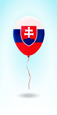 Slovakia balloon with flag. Ballon in the Country National Colors. Country Flag Rubber Balloon. Vector Illustration.