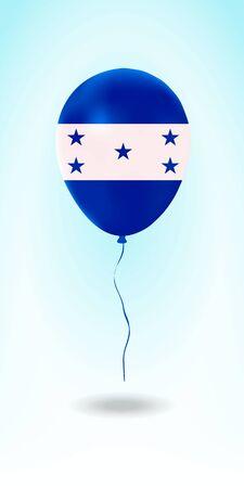 Honduras balloon with flag. Ballon in the Country National Colors. Country Flag Rubber Balloon. Vector Illustration.