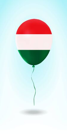 Hungary balloon with flag. Ballon in the Country National Colors. Country Flag Rubber Balloon. Vector Illustration.