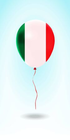 Italy balloon with flag. Ballon in the Country National Colors. Country Flag Rubber Balloon. Vector Illustration. Stok Fotoğraf - 139147123