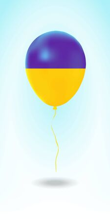Ukraine balloon with flag. Ballon in the Country National Colors. Country Flag Rubber Balloon. Vector Illustration. Stok Fotoğraf - 139147222