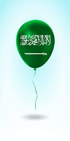 Saudi Arabia balloon with flag. Ballon in the Country National Colors. Country Flag Rubber Balloon. Vector Illustration.
