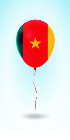 Cameroon balloon with flag. Ballon in the Country National Colors. Country Flag Rubber Balloon. Vector Illustration.
