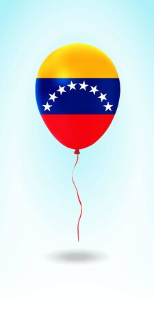 Venezuela balloon with flag. Ballon in the Country National Colors. Country Flag Rubber Balloon. Vector Illustration. Stok Fotoğraf - 139147423
