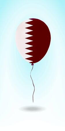 Qatar balloon with flag. Ballon in the Country National Colors. Country Flag Rubber Balloon. Vector Illustration.