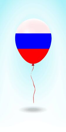 Russia balloon with flag. Ballon in the Country National Colors. Country Flag Rubber Balloon. Vector Illustration. Stok Fotoğraf - 139147494