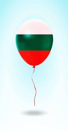 Bulgaria balloon with flag. Ballon in the Country National Colors. Country Flag Rubber Balloon. Vector Illustration. Çizim
