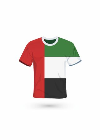 Sport shirt in colors of United Arab Emirates flag. Vector illustration for sport, championship and national team, sport game