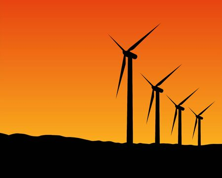 illustration of Sunset Wind Energy