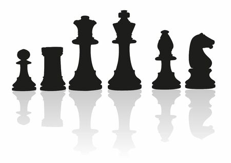 Shaded Chess Pieces