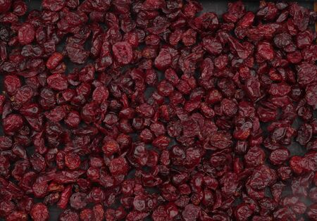 Organic dried cherries, red is the highest grade. Delicious background or wallpaper.