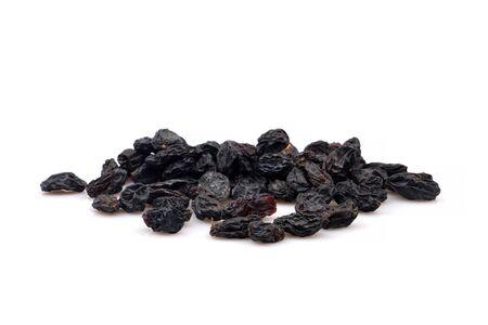 Organic Black raisin isolated on white background