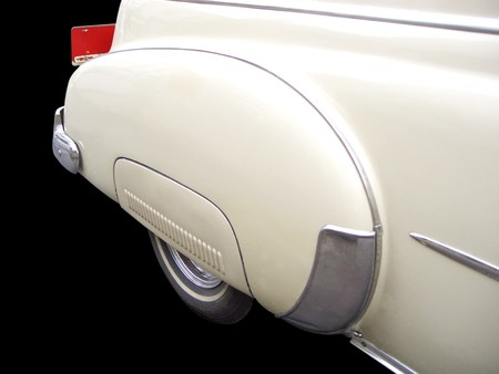taillight: Detail of the fender of a veteran car Stock Photo