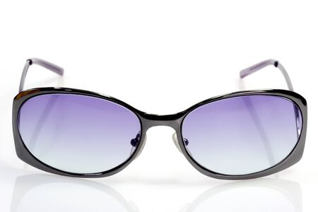 fashon: Trendy sunglasses on bright background