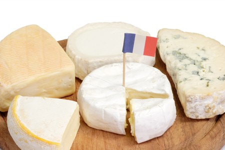 sorts: Different sorts of french soft cheese on a plate