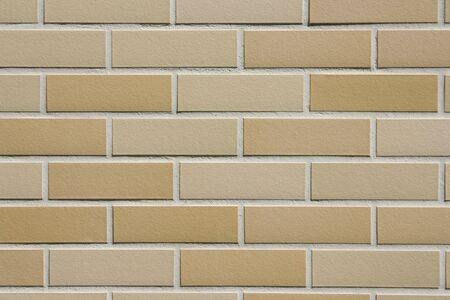 clinker: Close-up di un muro di clinker - girato all'aperto Archivio Fotografico