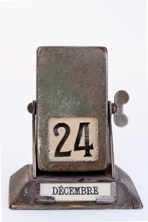 Antique throw over calendar - isolated