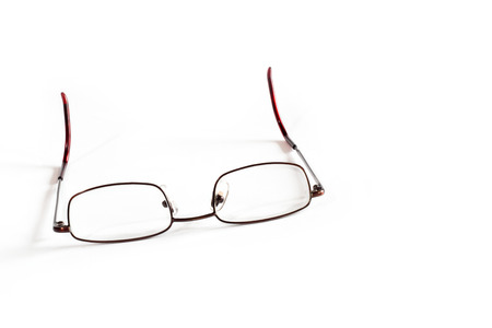 hyperopia: Generic reading glasses on white background Stock Photo