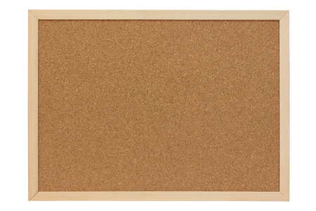 Pin Board of cork with wooden frame - isolated
