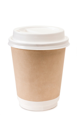 Brown paper cup for coffee