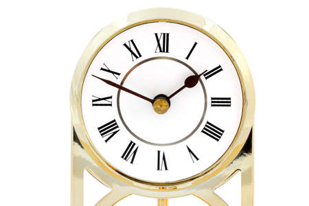 timelapse: Clock with roman numerals - isolated on white background