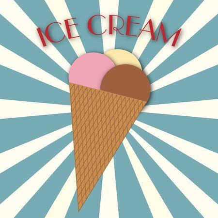 illustraion: Illustraion of an ice cream with writing Stock Photo