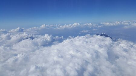 beautiful scenery seeing clouds in the plane Stock Photo