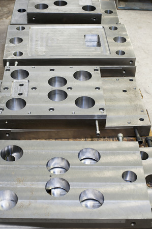 Punch press tooling  Steel detail of lathe and milling industry