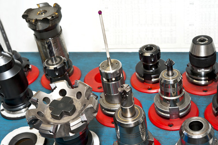 coordinate: CNC tools  Milling and drilling industry  Closeup